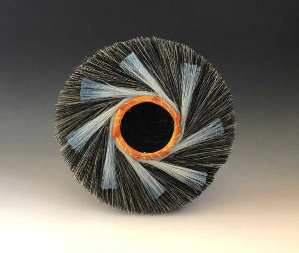 Bi-Color Blue Spiral Nest