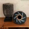 blue spiral nest basket