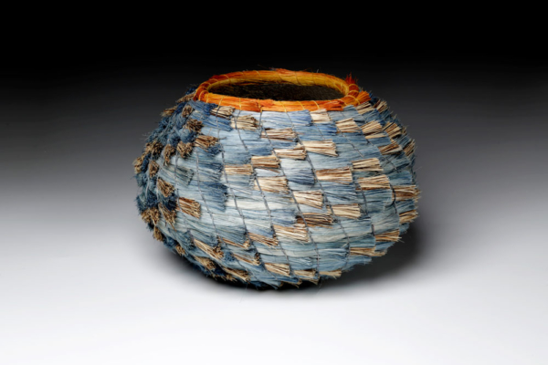Blue and Silver Basket