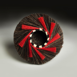 Tri Color Nest with Red Spiral