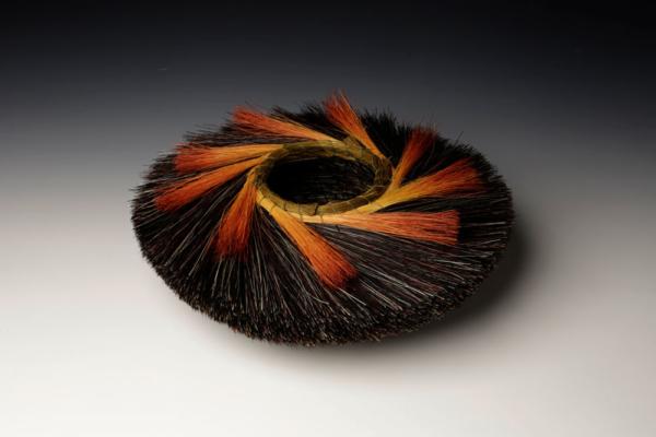 Tri Color Nest Orange Basket
