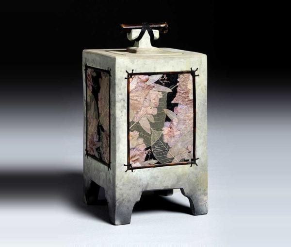 mixed media urn