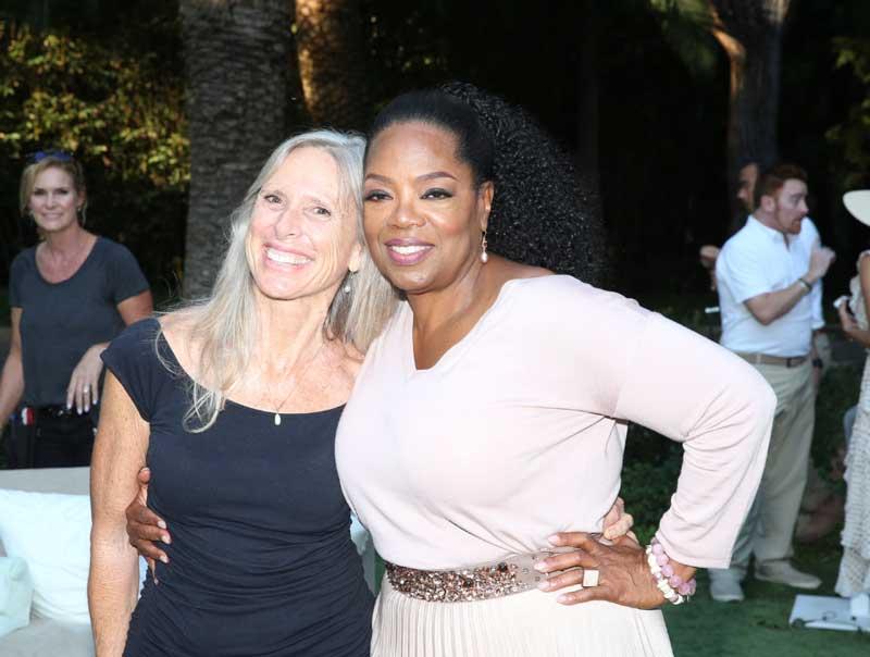 Christine Adcock and Oprah Winfrey