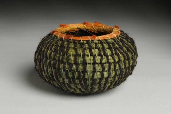 Green horsehair basket