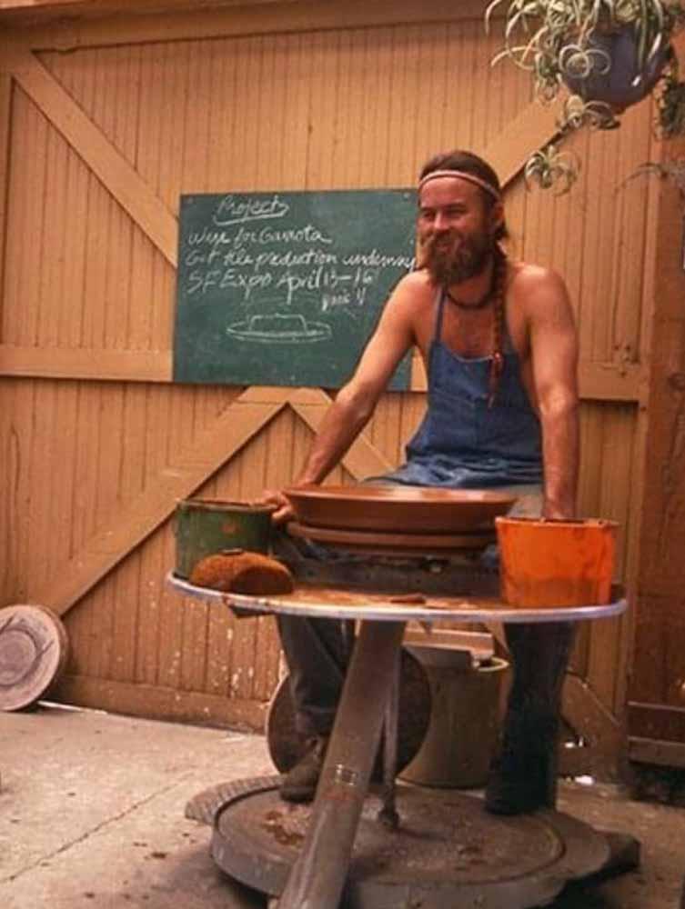 young man at potter's wheel