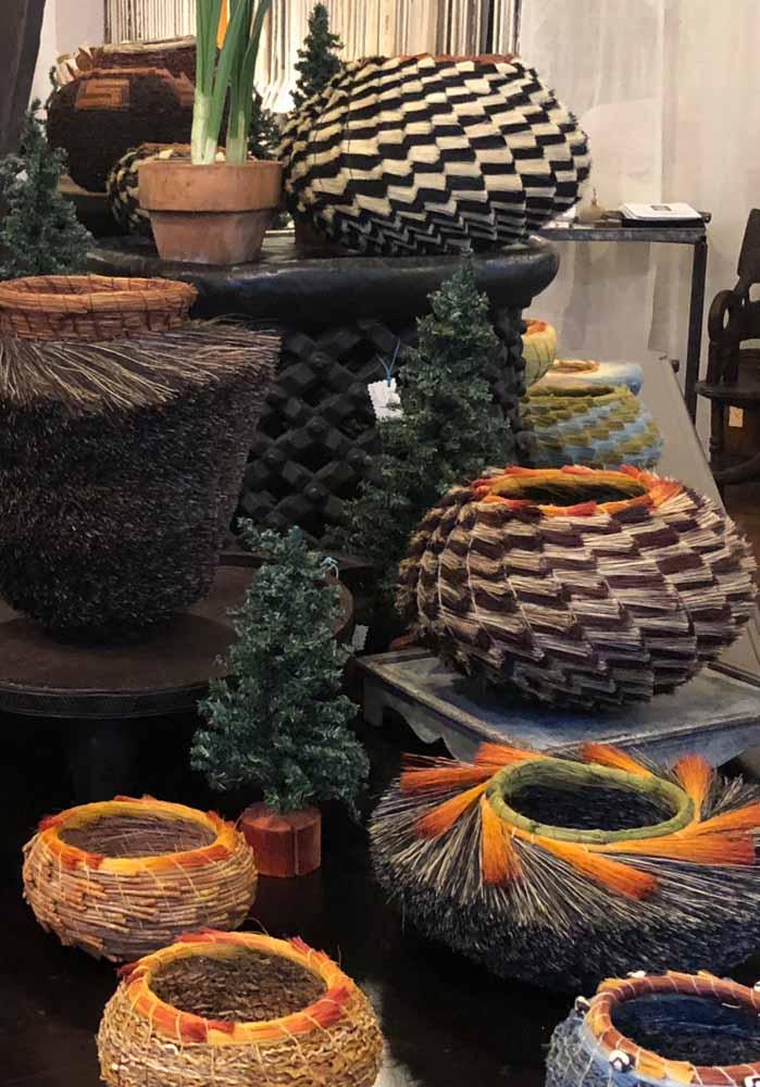 display of artisan baskets