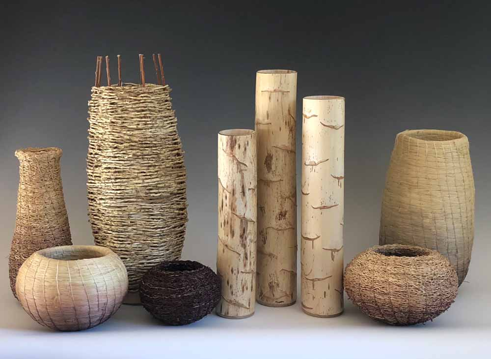 artisan baskets and vases