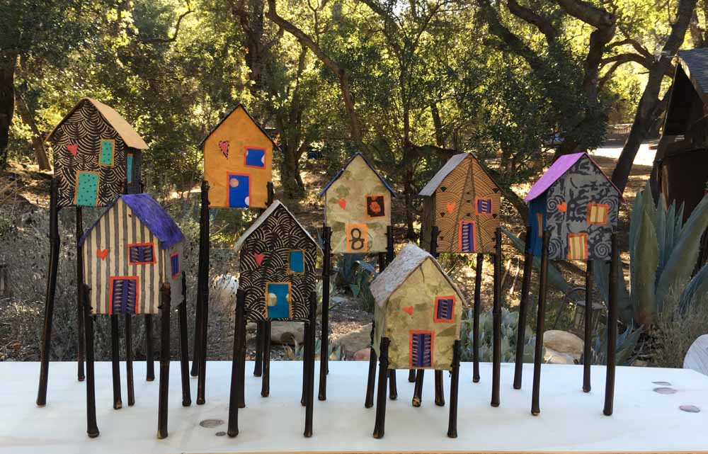 fairy houses outdoors