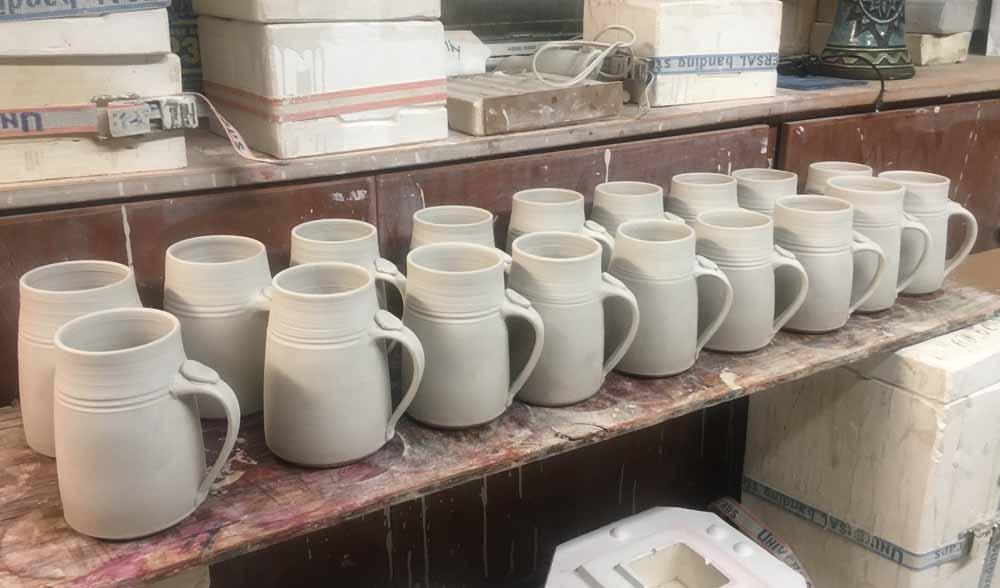 ceramic mugs for firing