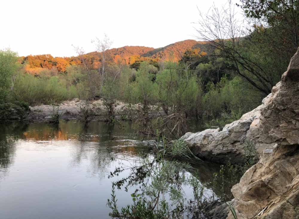 river view in southern california canyon