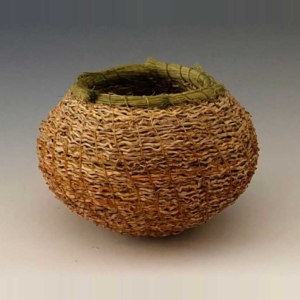 gold inflorescence basket