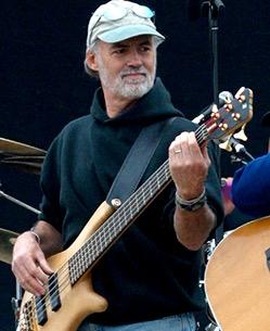 Michael Adcock playing bass