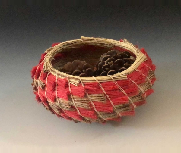 Red Stepped Basket