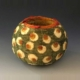 green polka dot basket