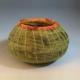 small green Lecheguilla-basket with orange rim