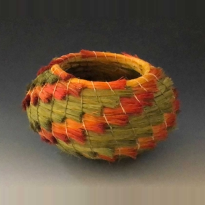 green and orange basket