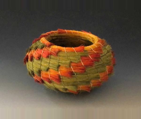 green and orange basket