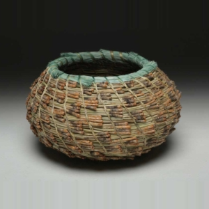 small pine basket